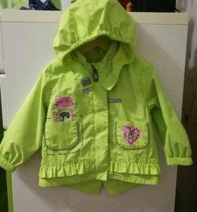Куртка ветровка Lenne на флисе р. 74