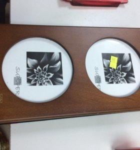 Деревянный бокс для хранения дисков, новый