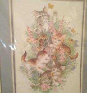 Набор для вышивания Dimensio 35066 Playful Kitties