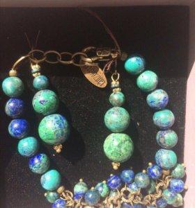 Комплект украшений браслет+серьги