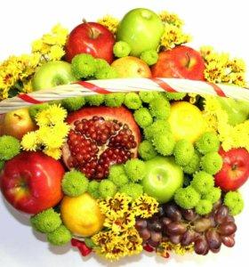 Корзины и букеты из фруктов, и букеты 18+