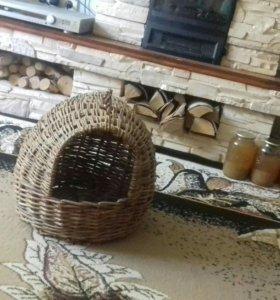 Плетеный домик-корзина