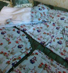 Бортики со шторками на детскую кроватку