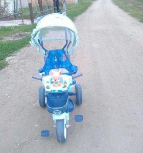 Детский велосипед трость в хорошем состояние