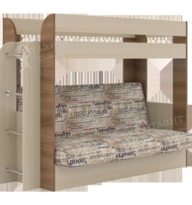 Двухъярусная кровать-диван Карамель 75