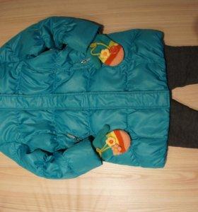 Пальто + лосины на меху