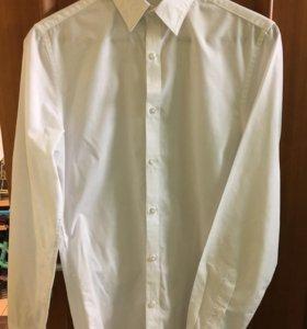 Белая рубашка H&М, размер XS