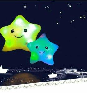 Мягкая игрушка-ночник звездочка
