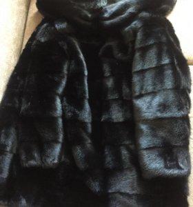 Норковая шуба с капюшоном 40-42-44