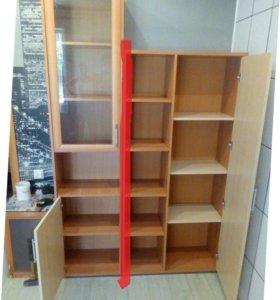 Современный стеллаж и шкаф