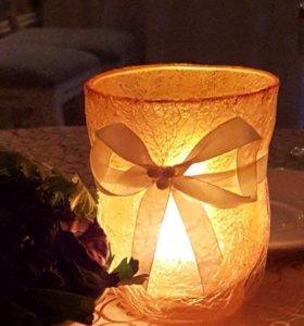 Подсвечники и ваза