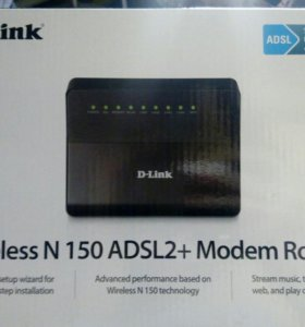 D- link wireless n150 adsl2+ modem router