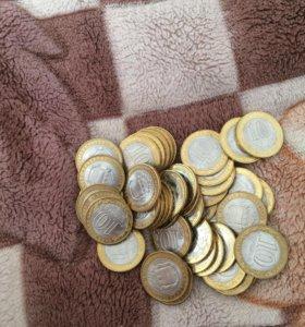 Различные юбилейные монеты из биметалла