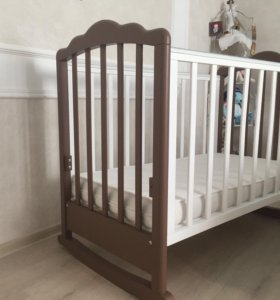 """Детская кроватка """"Фея"""" + матрас+ пост.белье"""