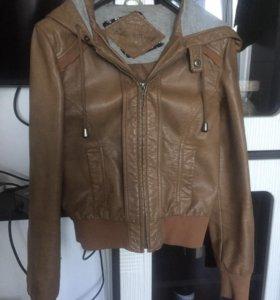 Кожаная куртка New Look с капюшоном!