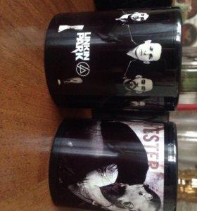 Чёрные кружки Chester Bennington/Linkin Park