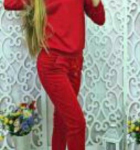 Костюм с брюками №6 красный