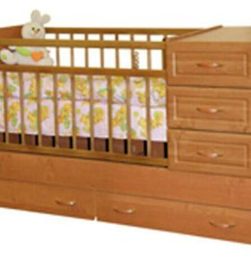 Кроватка - трансформер с комодом