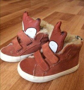 Замшевые ботиночки кеды лисички zara