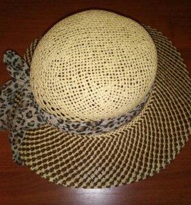 Соломенная шляпка новая
