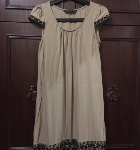 Zara платье бежевое