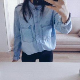 Джинсовая рубашка ostin