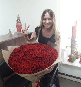 151 Роза Москва доставка роз цветов