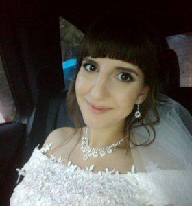 Свадебное колье и серёжки