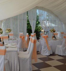 Банты на стулья -цвет персик