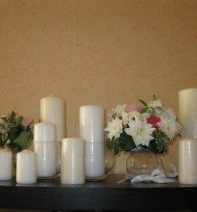 свечи белые