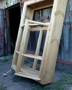 Деревянный оконный блок (150*90*27) новые 2 штуки