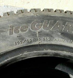 YOKOHAMA ice GUARD 91Q Зимняя резина р15