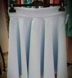 Новая мини юбка солнце. Голубая и чёрная