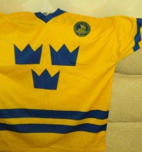 Хоккейный свитер (майка) сборной Швеции 2002 год