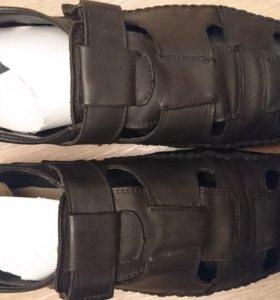Ботинки летние кожа
