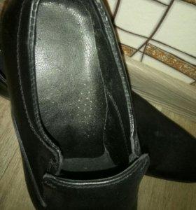 новые туфли, кожа.