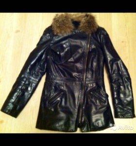Куртка кожаная зимняяя