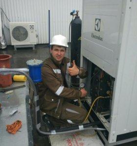 ремонт, чистка и дозаправка сплит систем