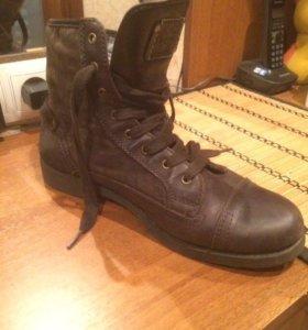Ботинки (замша+ кожа)