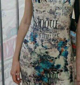 Трикотажное платье в отличном состоянии