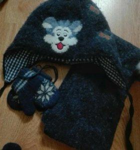Шапка шарф ыарежки