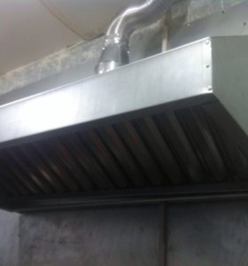 Вытяжной зонт из оцинкованной и нержавеющей стали