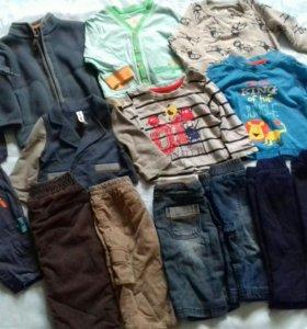 Пакет фирменных вещей на мальчика от56см до 74см