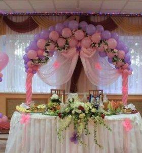 Свадебный декор шариками