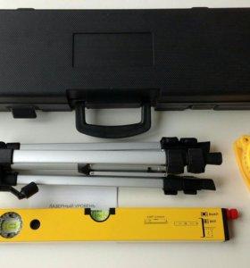 Лазерный уровень 400мм штатив кейс+рулетка 5м