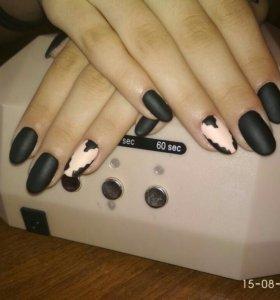 Покрытие гель лаком + маникюр и педикюр (пальчики)