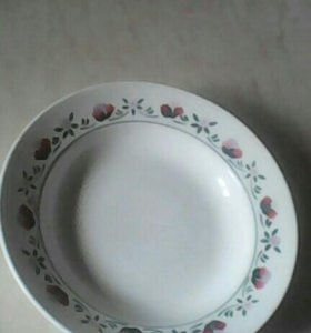 2 тарелки(фарфор-фаянс)