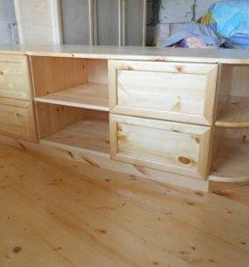 Изготовление мебели с натурального массива дерева.