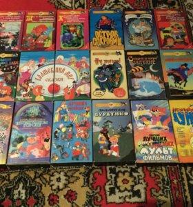 VHS кассеты лицензионные (мультфильмы)