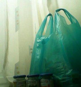 Два пакета баночек из под детского питания